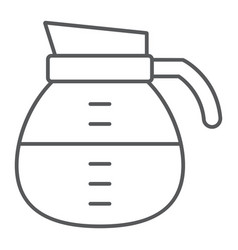 coffee pot thin line icon coffee and cafe drink vector image