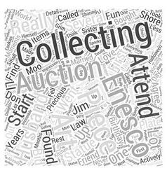 Collecting enesco Word Cloud Concept vector