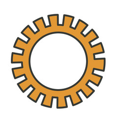 Colorful silhouette of pinion icon with thick vector