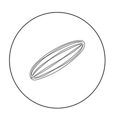 Cucumber icon outline singe vegetables icon from vector
