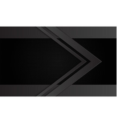 Dark grey arrow direction on black hexagon mesh vector