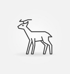 deer outline icon reindeer animal concept vector image