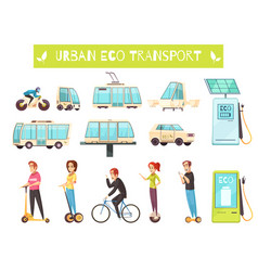 eco transport set vector image