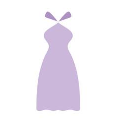 Elegant long dress fashion design vector
