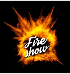 Fire show with fire vector image
