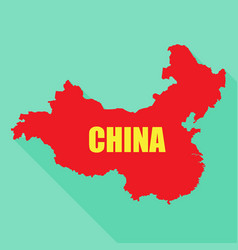 flag of china in a flat vector image