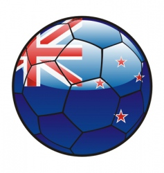 Flag of New Zealand on soccer ball vector