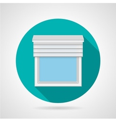 Flat icon for window with blinds vector image