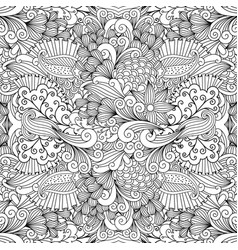 Floral zentangle pattern for wedding invitation vector