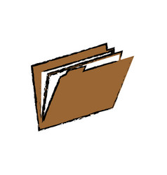 Folder file symbol vector