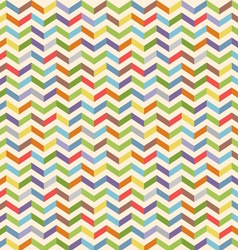 Full color seamless geometric pattern with zigzags vector