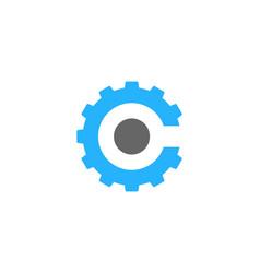 Gear letter c logo icon design vector