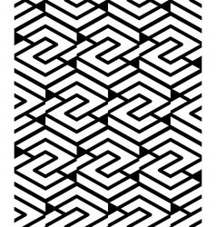 Geometric seamless pattern with parallel lines and vector image vector image