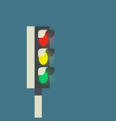 glow traffic light vector image