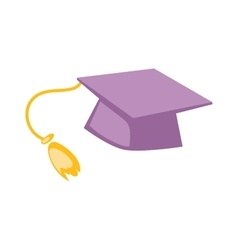 Graduation cap hat vector