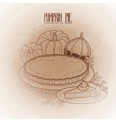Graphic pumpkin pie vector