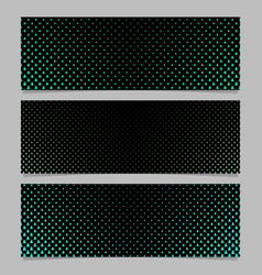 halftone stylized pine tree pattern banner vector image