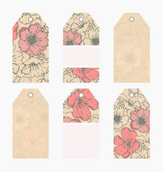 hand drawn creative tags vector image
