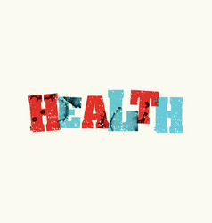 health concept colorful stamped word vector image
