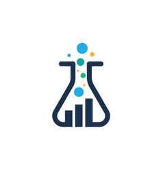 health medical lab icon template vector image