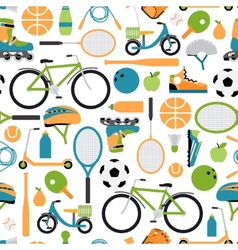 healthy sport pattern background vector image