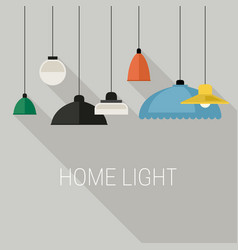 Home lighting banner vector