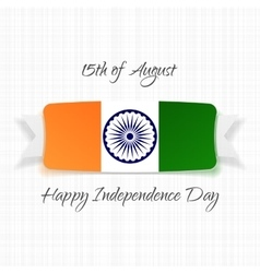 India Independence Day national Label vector