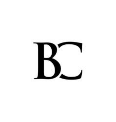 Initial bc alphabet logo design template vector