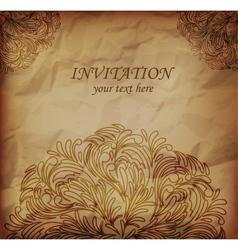 Invitanion card vector image