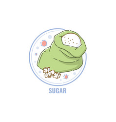 label for sugar allergen in product vector image