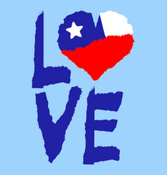 Love chile america vintage national flag in vector