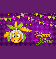 mardi gras carnival party banner lettering vector image