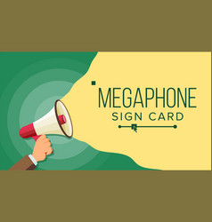 megaphone in human hand elections symbol vector image