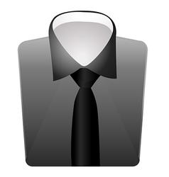 Mens dress shirt vector