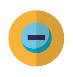 minus negative button icon vector image