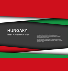 Modern background with hungarian colors vector