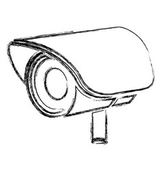 Monochrome sketch of exterior video security vector