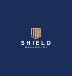 Mr shield logo vector