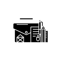 office accessoriaes black icon concept vector image