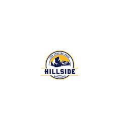 outdoor mountain and hillside logo design vector image