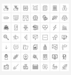 Pack 49 universal line icons for web vector
