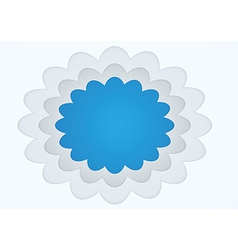 Picture frame cloud shape vector image