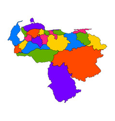 Political map of venezuela vector