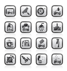 Professional car wash objects and icons vector