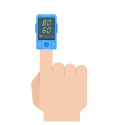 pulse oximeter icon pulse measurement determining vector image vector image