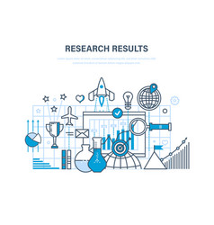 Research results marketing research data vector