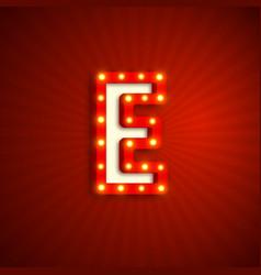 Retro style letter e vector