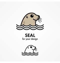 Seal head vector image