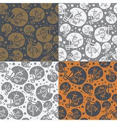 Seamless pattern rugby helmet vector image