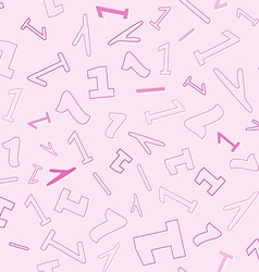 Seamless pattern with number one vector